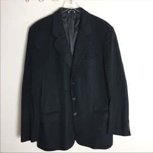 Banana Republic Wool Cashmere Black Top Coat